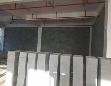 酒店加气砖施工案例